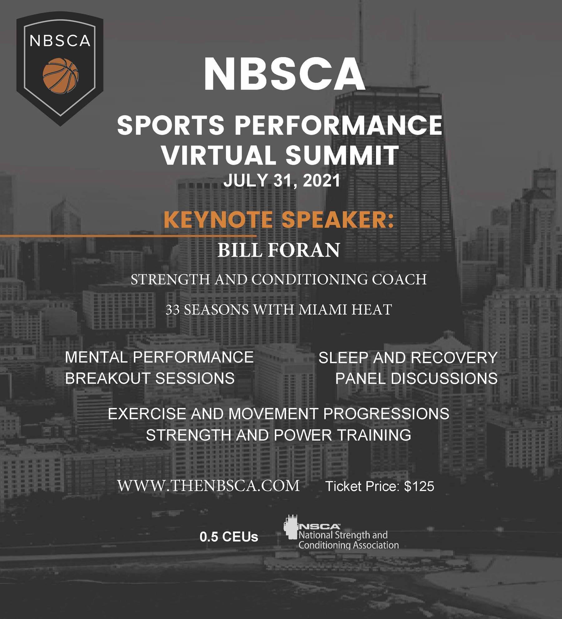 NBSCA 2021 Virtual Conference Flyer